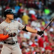 Marlins outfielder Giancarlo Stanton has averaged 30 home runs over his first seven MLB seasons, but has played in more than 125 games in only two of them. (Photo: Jeff Curry, USA TODAY Sports)