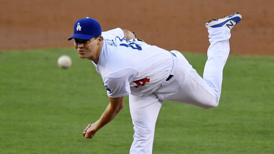 Rich Hill is scheduled to start of the Dodgers in a the decisive Game 5 of a National League division series against the Washington Nationals on Thursday. (Mark J. Terrill / Associated Press)